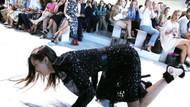 Bella Hadid defilede böyle yere düştü