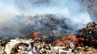Bodrum çöplüğünde yine yangın
