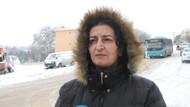 Karda kayıp kamyonetin altında kalan kadın konuştu