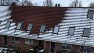 Polis çatıda kar olmamasından şüphelendi, bakın evden ne çıktı!