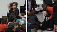 Meclis'te kadın vekiller saç saça baş başa kavga etti, Şafak Pavey yere düştü, protezi çıktı