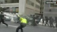 Washington'daki protesto gösterilerinde olay çıktı