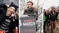 Trump karşıtı Kadınlar Yürüyüşü'ne hangi ünlüler katıldı?