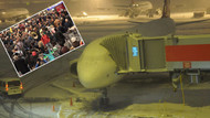 Kar nedeniyle yüzlerce yolcu havalimanında mahsur kaldı