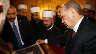 Erdoğan Sırbistan'daki camide Kur'an okudu