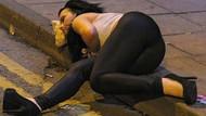 Alkolün dozunu kaçırınca bakın ne hale geldiler...