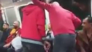 Galatasaray taraftarı metro'da olay çıkardı