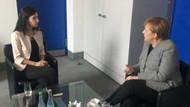 Merkel, Türkiye'de tutuklu olan gazeteci Deniz Yücel'in eşiyle görüştü
