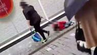 İngiltere bu görüntüleri konuşuyor: Çocuğa tasma takıp sürükledi