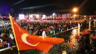 Fener alayında 600 metrelik Türk bayrağı açıldı