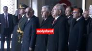 Anıtkabir'de ilginç kare: Kahraman Kılıçdaroğlu'na öyle bir baktı ki..