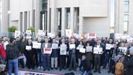 Cumhuriyet Gazetesi Davası öncesi adliye önünde açıklama