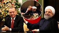 Erdoğan kulağına eğilip fısıldadı, Ruhani neden kahkaha attı?