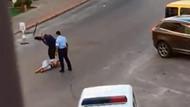 Antalya'da yerdeki kadına şiddet uygulayan polisler açığa alındı
