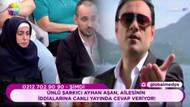Ayhan Aşan nafaka skandalına canlı yayında yanıt verdi
