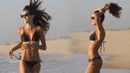 Izabel Goulart plajda bikinisiyle tüm bakışları üzerine topladı