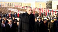 Cumhurbaşkanı Erdoğan Atatürk'ün huzurunda