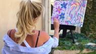 Britney Spears'ın Las Vegas kurbanları için yaptığı suluboya tablosuna alkış ve eleştiri