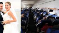 Bodrum uçağındaki öpücük kavgasının görüntüleri
