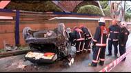 Kadıköy'de üst yoldan E-5'e uçan sürücü hayatını kaybetti