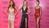Victoria's Secret Pembe Halıda bacaklar öne çıktı