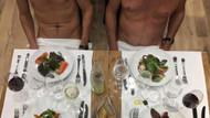 Paris'teki çıplaklar restoranında ilk yemekler yendi
