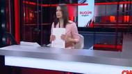 CNN Türk sunucusu Başak Şengül yaka mikrofonunu açmayı unutunca