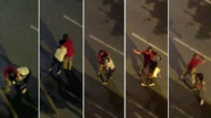 Genç kadını sokakta dakikalarca taciz etti, herkes seyretti