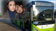 Sevgilisinin omuzuna başını koydu, otobüs karıştı