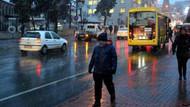 Tekirdağ'da akşam saatlerinde mevsimin ilk karı