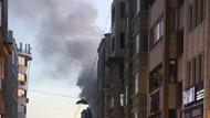Karaköy'de patlama sonrası yangın