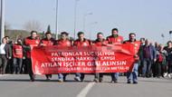 Dün gözaltına alınıp, serbest bırakılan işçiler organize sanayi bölgesinde yürüdü