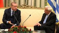 Erdoğan'dan Yunan Cumhurbaşkanı Pavlopulos'un yüzüne karşı şok sözler