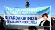Diyarbakır'da Akşener'i karşılamak için hazırlanan çok dilli pankartın Kürtçesi sınıfta kaldı