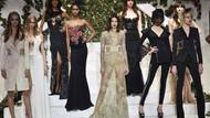 Kendall Jenner transparan elbisesiyle podyumu salladı