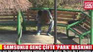 Samsunlu genç aşıklar parkta polise yakalanınca...
