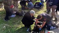 MHP'de kaza şoku! Araç takla attı