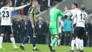 Beşiktaş Fenerbahçe maçında Tosic ile Van Persie gerilimi