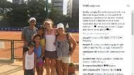 Alex de Souza'dan genç tenisci Berfu Cengiz'e destek