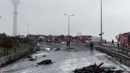 Eczacıbaşı helikopteri televizyon kulesine çarpıp düştü: 6 ölü