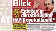 İsviçreli Blick gazetesi Türkçe manşetle çıktı: Erdoğan'ın diktatörlüğüne hayır oyu kullanın!