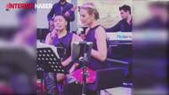 Esra Erol ekibiyle şarkı söyledi