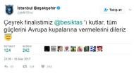 Başakşehir'den Beşiktaş'a ilginç kutlama mesajı