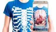İç organların tamamını 3 boyutlu gösteren tişört