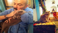 Cemil İpekçi kedisine kavuştu