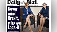 Daily Mail kadın başbakanların bacaklarını manşet yaptı