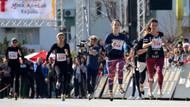 Kadınların yüksek topuk koşusu