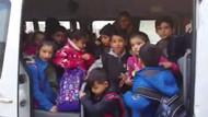 17 yolcu kapasiteli servis aracından 48 öğrenci çıktı
