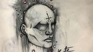 18 yaşındaki şizofren kadının çizdiği resimler