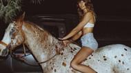 Playboy'un vahşi güzeli binicilikte iddialı